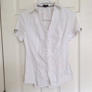 🔥2 for $15🔥plain white button down shirt